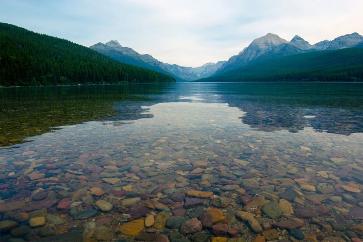 Bowman Lake in Glacier National Park