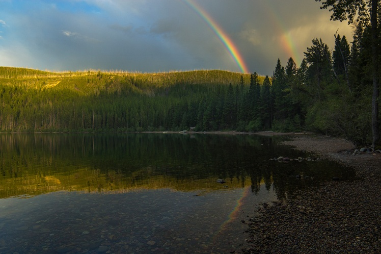 Kintla-Lake-Double-Rainbow