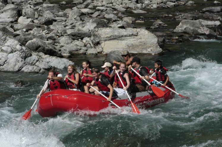 White water rafting in Montana was such a thrill! Can you find me? Hint: look for the HUGE smile on my face! ;)