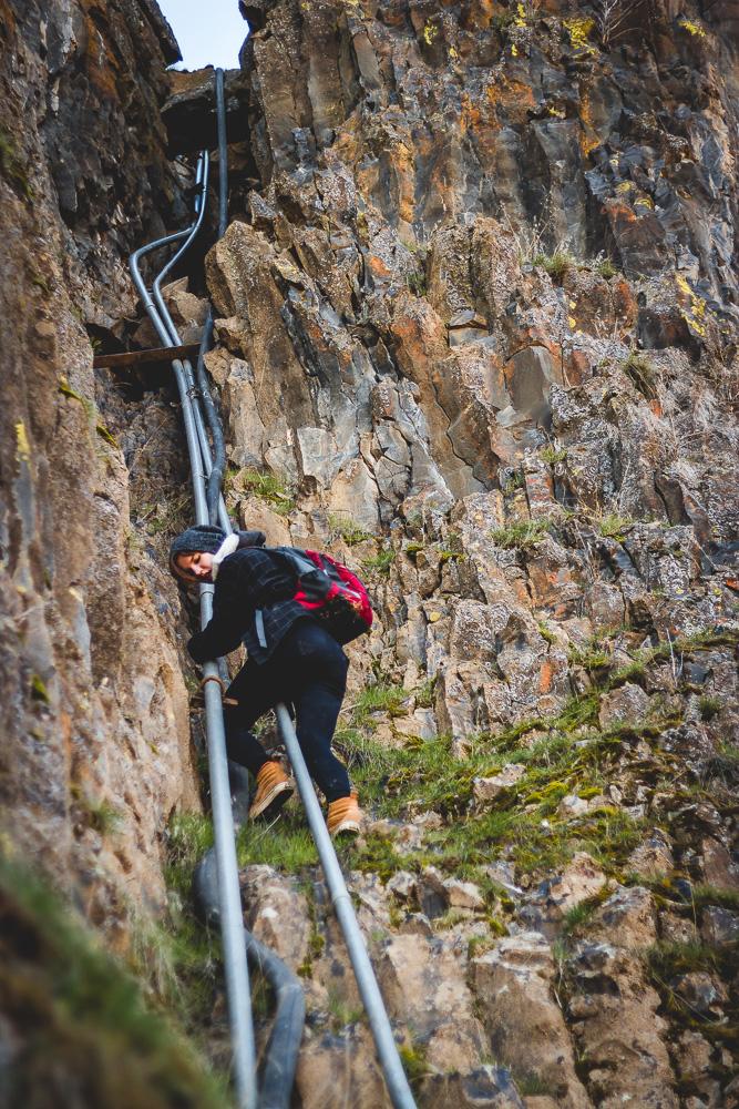 Hannah Climbing